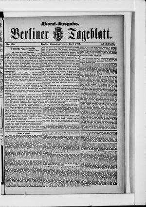 Berliner Tageblatt und Handels-Zeitung vom 08.04.1882