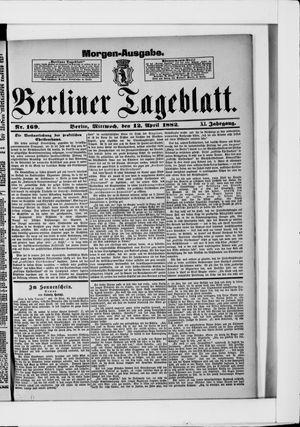 Berliner Tageblatt und Handels-Zeitung vom 12.04.1882