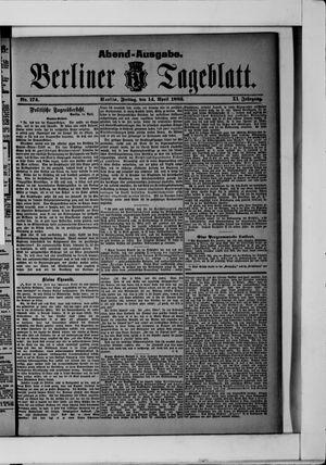 Berliner Tageblatt und Handels-Zeitung vom 14.04.1882