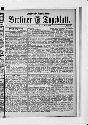 Berliner Tageblatt und Handels-Zeitung vom 15.04.1882