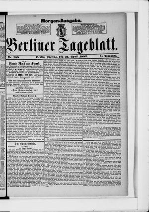 Berliner Tageblatt und Handels-Zeitung vom 21.04.1882