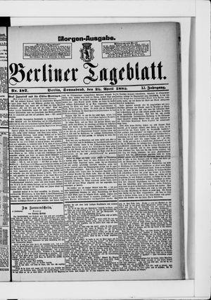 Berliner Tageblatt und Handels-Zeitung vom 22.04.1882