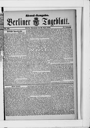 Berliner Tageblatt und Handels-Zeitung (22.04.1882)