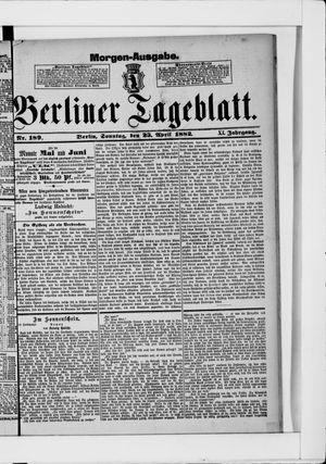 Berliner Tageblatt und Handels-Zeitung on Apr 23, 1882