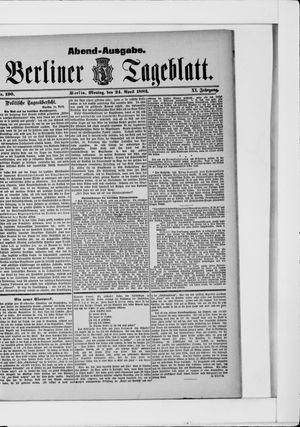Berliner Tageblatt und Handels-Zeitung vom 24.04.1882