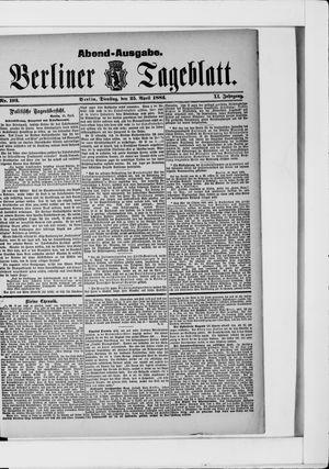 Berliner Tageblatt und Handels-Zeitung vom 25.04.1882