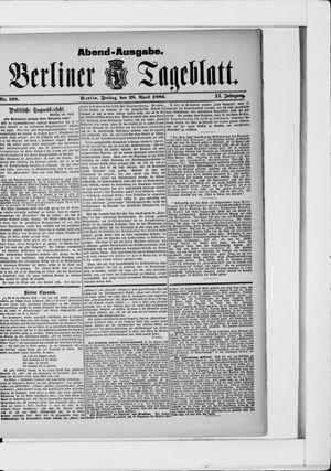 Berliner Tageblatt und Handels-Zeitung vom 28.04.1882