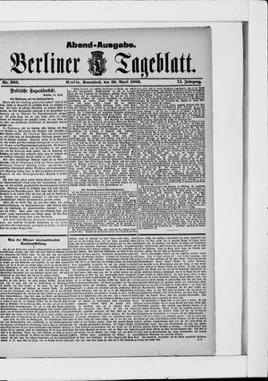 Berliner Tageblatt und Handels-Zeitung vom 29.04.1882