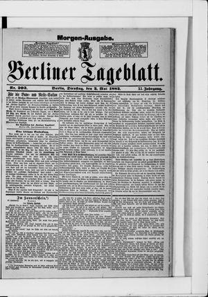 Berliner Tageblatt und Handels-Zeitung vom 02.05.1882