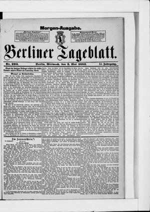 Berliner Tageblatt und Handels-Zeitung vom 03.05.1882