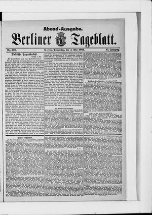Berliner Tageblatt und Handels-Zeitung vom 04.05.1882