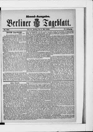Berliner Tageblatt und Handels-Zeitung vom 05.05.1882
