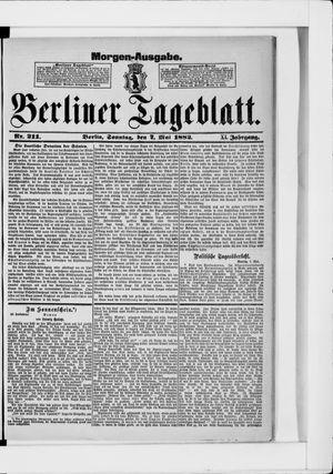 Berliner Tageblatt und Handels-Zeitung vom 07.05.1882