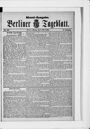 Berliner Tageblatt und Handels-Zeitung on May 8, 1882