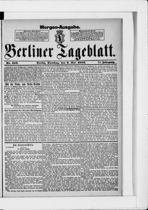 Berliner Tageblatt und Handels-Zeitung vom 09.05.1882