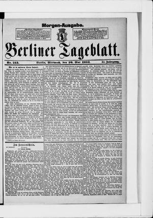 Berliner Tageblatt und Handels-Zeitung vom 10.05.1882