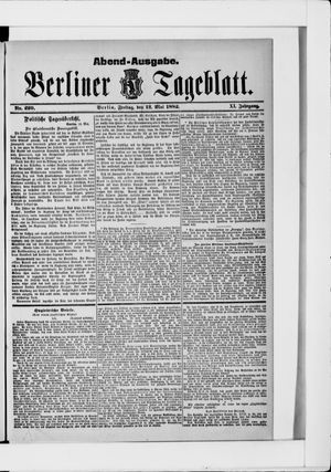 Berliner Tageblatt und Handels-Zeitung vom 12.05.1882