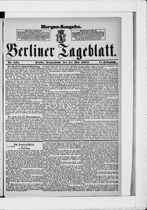 Berliner Tageblatt und Handels-Zeitung vom 13.05.1882