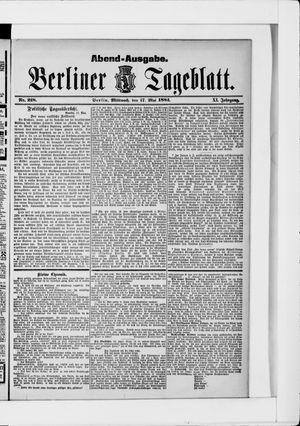 Berliner Tageblatt und Handels-Zeitung vom 17.05.1882