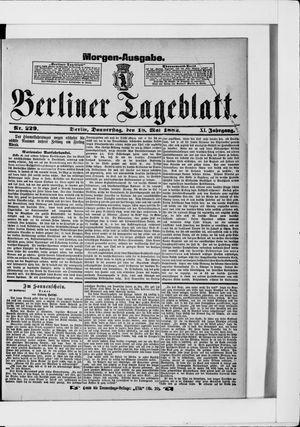 Berliner Tageblatt und Handels-Zeitung vom 18.05.1882