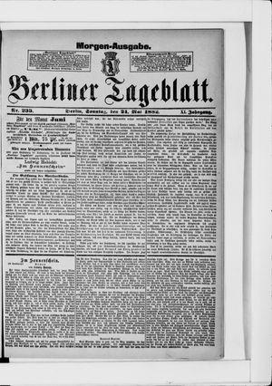 Berliner Tageblatt und Handels-Zeitung vom 21.05.1882