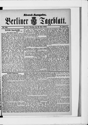 Berliner Tageblatt und Handels-Zeitung on May 23, 1882