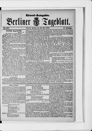 Berliner Tageblatt und Handels-Zeitung vom 26.05.1882