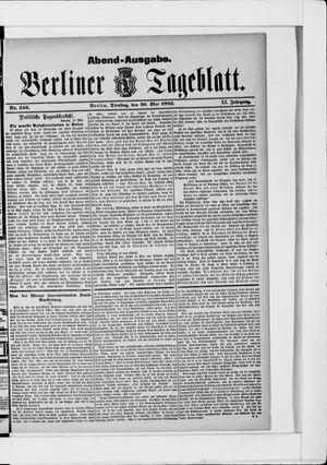 Berliner Tageblatt und Handels-Zeitung vom 30.05.1882