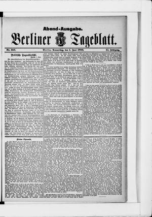 Berliner Tageblatt und Handels-Zeitung vom 01.06.1882