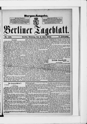 Berliner Tageblatt und Handels-Zeitung vom 04.06.1882