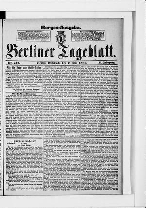 Berliner Tageblatt und Handels-Zeitung vom 07.06.1882