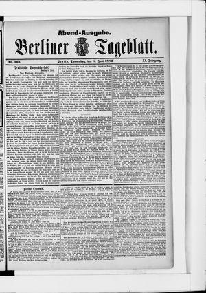Berliner Tageblatt und Handels-Zeitung vom 08.06.1882