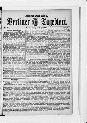 Berliner Tageblatt und Handels-Zeitung vom 09.06.1882