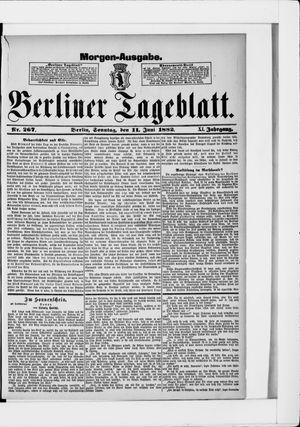 Berliner Tageblatt und Handels-Zeitung vom 11.06.1882