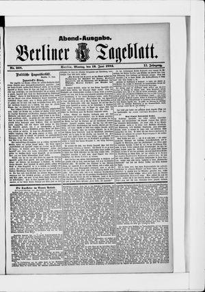 Berliner Tageblatt und Handels-Zeitung vom 12.06.1882