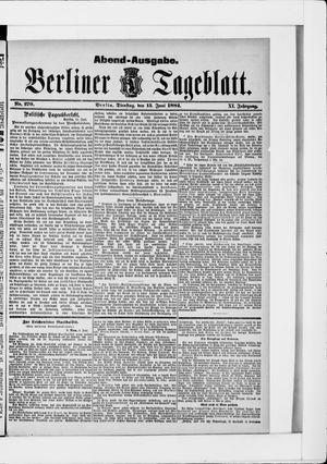 Berliner Tageblatt und Handels-Zeitung vom 13.06.1882