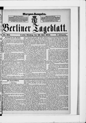 Berliner Tageblatt und Handels-Zeitung vom 20.06.1882