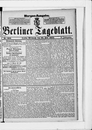 Berliner Tageblatt und Handels-Zeitung vom 21.06.1882
