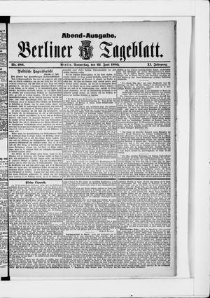 Berliner Tageblatt und Handels-Zeitung vom 22.06.1882