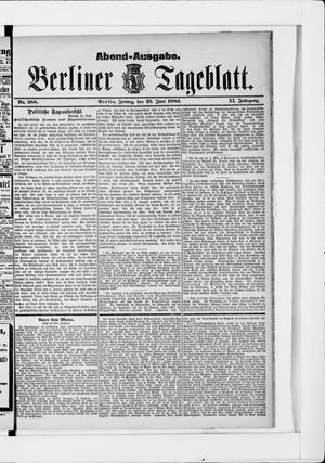 Berliner Tageblatt und Handels-Zeitung vom 23.06.1882