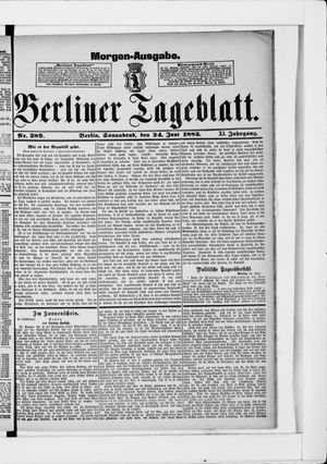 Berliner Tageblatt und Handels-Zeitung vom 24.06.1882
