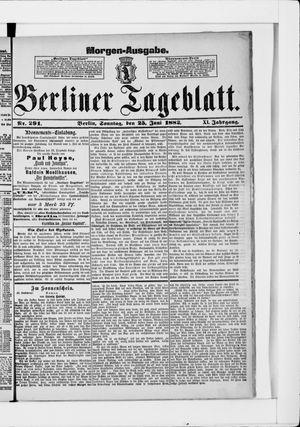 Berliner Tageblatt und Handels-Zeitung vom 25.06.1882