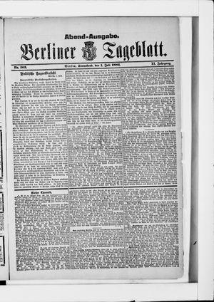 Berliner Tageblatt und Handels-Zeitung vom 01.07.1882