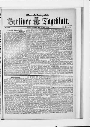 Berliner Tageblatt und Handels-Zeitung vom 04.07.1882