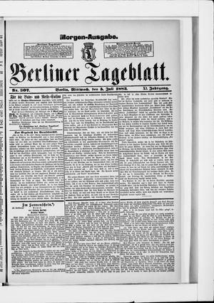 Berliner Tageblatt und Handels-Zeitung vom 05.07.1882