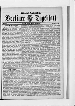 Berliner Tageblatt und Handels-Zeitung vom 07.07.1882
