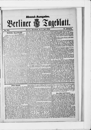 Berliner Tageblatt und Handels-Zeitung vom 08.07.1882