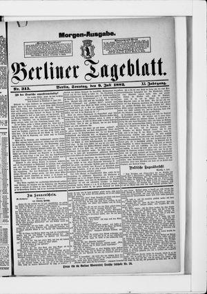 Berliner Tageblatt und Handels-Zeitung vom 09.07.1882