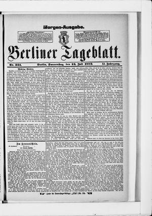 Berliner Tageblatt und Handels-Zeitung vom 13.07.1882