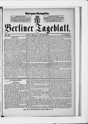 Berliner Tageblatt und Handels-Zeitung vom 16.07.1882